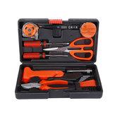 18 في 1 مجموعة أدوات تصليح السيارات مجموعة الأدوات المنزلية اليد المفك مقص Hammer سلك القاطع كشاف مع صندوق