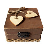 Rustic Wedding Personalized Ring Bearer Box Loving  Wedding Gift