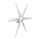 800W 12V/24V Wind Turbine 6 White Blades Generator High Power For Battery Charge