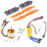 XXD A2212 2200KV 2212 Brushless Motor + 6035 propeller + SG90 9g Micro Servo*2 + 30A ESC Combo for RC Airplane Fixed-wing Helicopter