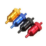 Aluminum Reusable Universal Motorcycle Fuel Filter Petrol Gas Gasoline Liquid