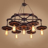 Creative Gear Retro Metal Pendant Light Fixture Ceiling Industrial Chandelier