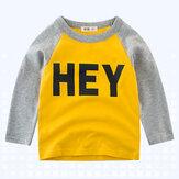 Jungen Kinder gedruckt Langarm T-Shirts für 3Y-12Y