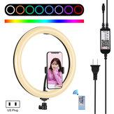 PULUZ PU411 12インチ6000〜6500k調光可能LED RGBビデオリングライト、リモコン付き、Selfie Vlog Tik Tok Youtubeライブストリーミング用