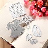 Lovely clothes metal cutting dies estêncil scrapbook cartão álbum papel artesanato decoração
