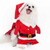 2020 أزياء عيد الميلاد للكلاب الأليفة مع قبعة زي سانتا كلوز المضحك للكلاب المعاطف الشتوية الدافئة ملابس الكلاب