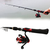 ZANLURE 8-Sections Portable Hard Carbon Fishing Rod and Spinning Left Right Hand Fishing Reel Travel Combo Kits