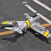 F86 Sabre 1100mm Rozpiętość skrzydeł 70mm EDF Jet Warbird Zestaw samolotu RC z elektrycznym podwoziem