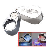 NEW 40X Metal Jeweler LED Lente di ingrandimento per microscopio UV