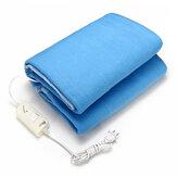 Elektrikli Isıtmalı Battaniye 140X110 CM Sıcaklık Kontrolü Tip Güvenli Rahat Sıcak Battaniye Ev