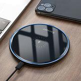 Essager 15W Kablosuz Şarj Cihazı Ultra İnce Ayna Masaüstü Gece Işığı Oneplus 8 Note 10 + 5G + için Hızlı Şarj