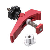 Drillpro Red Quick Acting Hold Down Clamp Aluminum Alloy T-Slot T-Track Clamp Set Woodworking Tool for Woodworking Table