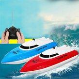 湖のプールの子供のギフトのための4CHリモコンRCレーシングボート高速電気おもちゃ