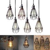 Pingente Vintage Trouble lâmpada guarda teto gaiola pendurada dispositivo elétrico lampshade para a iluminação interna