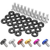 20pcs CNC Aluminum Bumper Fender Washer Bolt Engine Bay Dress Up Kit M6x15mm