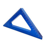 Aluminum Alloy 45 Degree Angle Ruler Inch Metric Triangle Ruler Carpenter Workshop Woodworking Square Measuring Tools