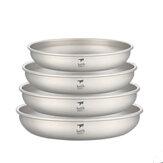 كيث 250/300/400/450 مللي أطباق التيتانيوم أطباق المائدة أطباق خفيفة الوزن المحمولة في الهواء الطلق التخييم نزهة السفر