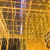 AC220V 2M * 0.6M LED rideau chaîne lumière vacances Noël maison chaude lampe blanche US prise