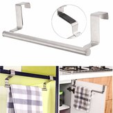 Acero inoxidable Toalla Bar Holder Kitchen Cuarto de baño Armario Rack Percha