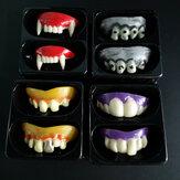 Halloween prothèses en plastique Soft Cosplay fête Zombie Vampire dents avant habiller les accessoires