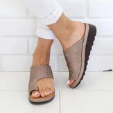 Grote maat Casual Soft Platte sandalen met spitse neus