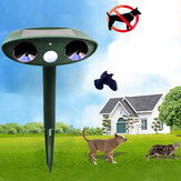 GreatHouse Ultrasonic Solar Power Animal Dispeller Jardin en plein air Effaceur d'animaux Chat Repeller