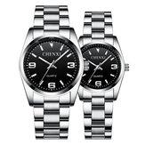 Chenxicx-003atamçelikSuGeçirmez çift kol saati