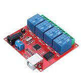 4CH Canal 12 V USB Controlador de Controle USB Controlador de Unidade de Relé Livre Controlador Inteligente PC