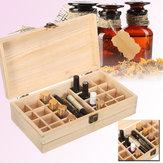 25 Grids Wooden Parts Storage Box