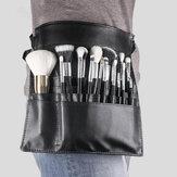 Black PU Makeup Brush Bag Unilateral Makeup