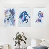 Akwarela Fairy Horse Picture Brezentowy Unframed Obrazy Abstract Wall Art Decor