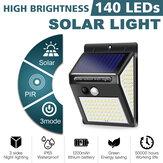 Czujnik ruchu PIR 3 tryby 140LED Solar Light Super Bright Outdoor Garden Wall Lamp
