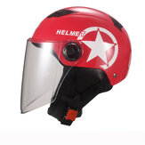 Universal Unisex Motorcycle Scooter Half Face Helmet With Transparent Lens Breathable