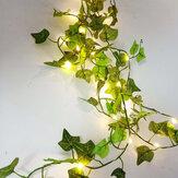 Folhas de LED Folha Bateria Luzes de fada de corda para festa em casa decoração de jardim guirlanda