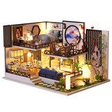 M-029 Madera de estilo chino DIY Kit de muebles en miniatura de casa de muñecas hecha a mano con LED Efecto de juguete para niños Cumpleaños Regalo de Navidad Decoración de la casa