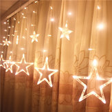Honana HT-336 220V luz LED String Star Shape Curtain Light Home Decor Celebration Festival Boda