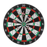 15-calowa flokowana tarcza do rzutek z przodu dwustronna + 6 sztuk rzutki do klubu domowego rozrywka rozrywka gra zabawkowa prezenty