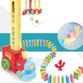 دومينو قطار سيارة مجموعة جسر كيت Colorful البلاستيك الدومينو كتلة ألعاب أطفال هدية عيد الميلاد عيد ميلاد للأطفال صبي فتاة