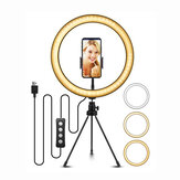 ELEGIANT 10,2 Zoll Selfie LED Ringlicht mit Stativ für YouTube Video Live Stream Makeup Fotografie