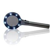 Handheld 8 LED Lupe 5X Beleuchtete Lupe Lampe Zum Lesen Optische Gläser Objektiv Tragbare Magniying Glasschmuck Lupe