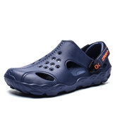 Men Hollow Lightweight Closed Toe Beach Clog Water Sandals