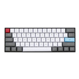 61 Keys White&Grey Keycap Set OEM Profile PBT Thick ANSI Layout Keycaps for 60% Mechanical Keyboard
