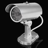 18赤い点滅LEDライトとEmulationalダミーCCTV屋外防犯カメラ