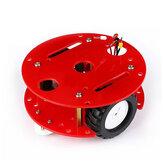 أطقم هيكل سيارة روبوت صغيرة Hammer مزدوجة الطبقات ذكي مزودة بمحرك موجه لتعلم بداية اردوينو ذاتية الصنع