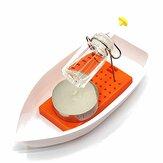 Incríveis brinquedos experimentais científicos de lancha a vapor movida a vela de calor para crianças e crianças