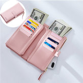 MulheresFauxCouroTri-fold22Card Slot Wallet Casual Purse