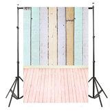 Fond d'écran coloré en vinyle 5x10FT Planches en bois Fond d'écran en bois
