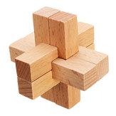 Kong Ming Lock Brinquedos Crianças Kids Assemblando Puzzle de Puzzle 3D Cube Challenge IQ Brain Wood Toy