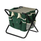 12.2x15.4x13.4inch Folding Kneeler Seat Oxford Cloth Camping Chair Fishing Seat with Detachable Storage Organizer Tool Tote Bag For Home Garden Yard