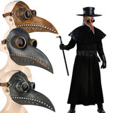 Halloween Middeleeuwse Steampunk Plague Arts Vogel Masker Latex Punk Cosplay Maskers Lange Neus Snavel Volwassen Halloween Event Cosplay Props